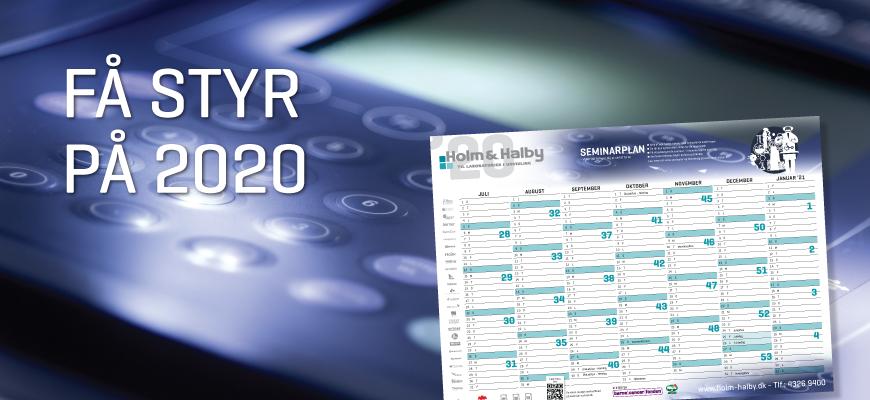 Gratis 2020 kalender